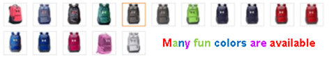 Many colors backpack