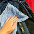 clean backpack by hand