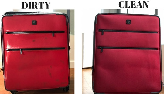 Removing Grease and Oils from Luggage
